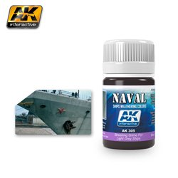 AK Interactive AK305 STREAKING GRIME FOR LIGHT GREY SHIPS 35ml