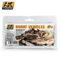 AK Interactive AK4120 BURNT VEHICLES SET 5 jars