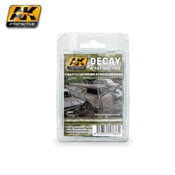 AK Interactive AK4180 DECAY & ABANDONED WEATHERING SET 3 Jars