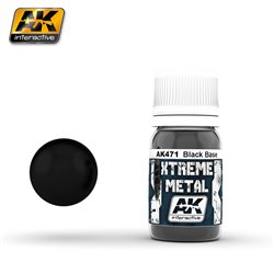 AK Interactive AK471 XTREME METAL BLACK BASE 30ml