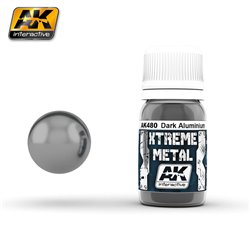 AK Interactive AK480 XTREME METAL DARK ALUMINIUM 30ml