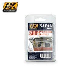 AK Interactive AK555 SHIPS VOL.1 WEATHERING SET 3x35ml