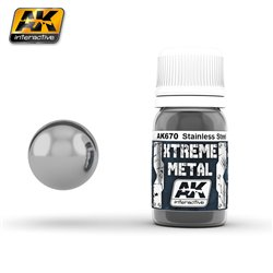 AK Interactive AK670 XTREME METAL STAINLESS STEEL 30ml