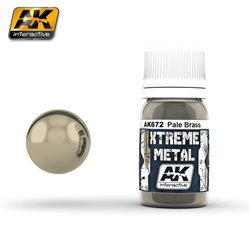 AK Interactive AK672 XTREME METAL PALE BRASS 30ml