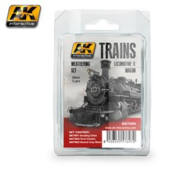 AK Interactive AK7000 LOCOMOTIVE & WAGON 3x35ml