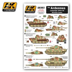 AK Interactive AK802 The ARDENNES campaign 1944-45 German tanks Wet Transfer