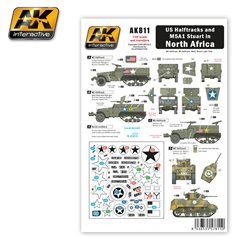 AK Interactive AK811 US HALFTRACKS AND M5A1 IN NORTH AFRICA Wet Transfer