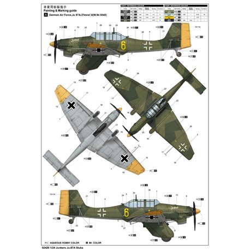 Trumpeter 02420 1/24 Junkers Ju-87A Stuka