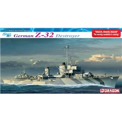 DRAGON 1065 1/350 German Z-32 Destroyer - Smart Kit