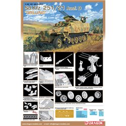 DRAGON 6217 1/35 Sd.Kfz.251/21 Ausf.D Drilling