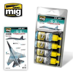 AMMO OF MIG A.MIG-7219 SU-35 Flanker-E Colors 4x17ml