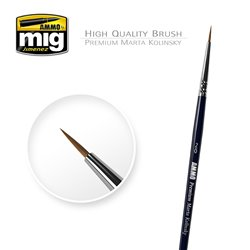 AMMO BY MIG A.MIG-8601 Pinceau Premium Kolinsky Martre Rond 2/0