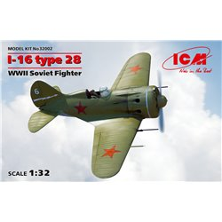 ICM 32002 1/32 I-16 type 28 WWII Soviet Fighter