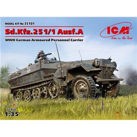 ICM 35101 1/35 Sd.Kfz.251/1 Ausf.A, WWII German Armoured Personnel Carrier