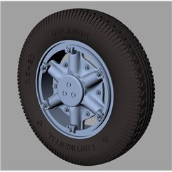 PANZER ART RE35-517 1/35 Renault AHN Road wheels (Continental)