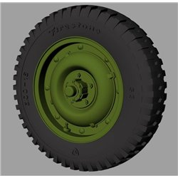 "PANZER ART RE35-528 1/35 Willys MB ""Jeep"" Road wheels (Firestone)"