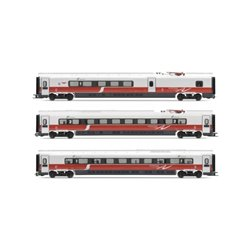 Jouef Expert HL4600 HO 1/87 3 x ETR 610 Coaches - Freccia Argento 1