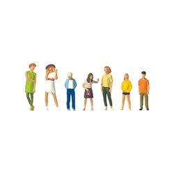 Preiser 10698 HO 1/87 Personnages debout - Standing youths