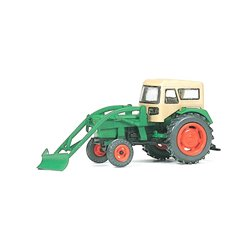 Preiser 17924 HO 1/87 Farm tractor DEUTZ D 6206 with snow-plough