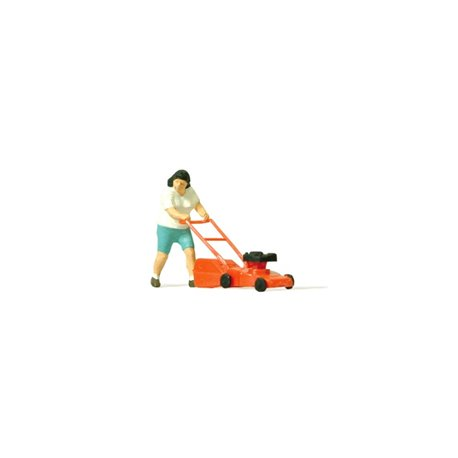 Preiser 28085 HO 1/87 Tondre Gazon – Mowing the Lawn