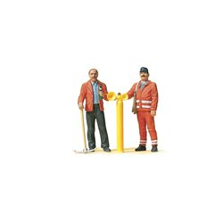 Preiser 45005 G 1/24 Cheminots - Track worker, safety guard
