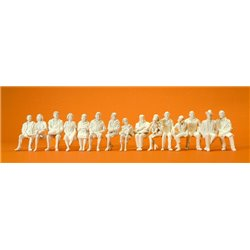 "Preiser 63001 1 3/8"" 1/32 Seated passengers 15pc Unpainted"