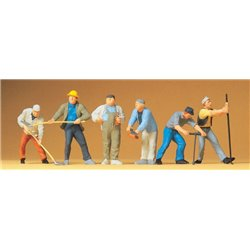 Preiser 65331 O 1/42 Ouvriers - Construction workers