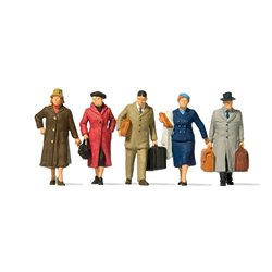 Preiser 65365 O 1/42 Passagers - Walking passengers