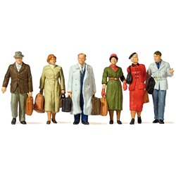 Preiser 65367 O 1/42 Passagers Debout - Standing and walking travelers