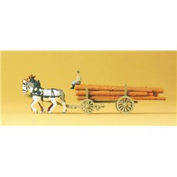 Preiser 79477 N 1/160 Log Wagon