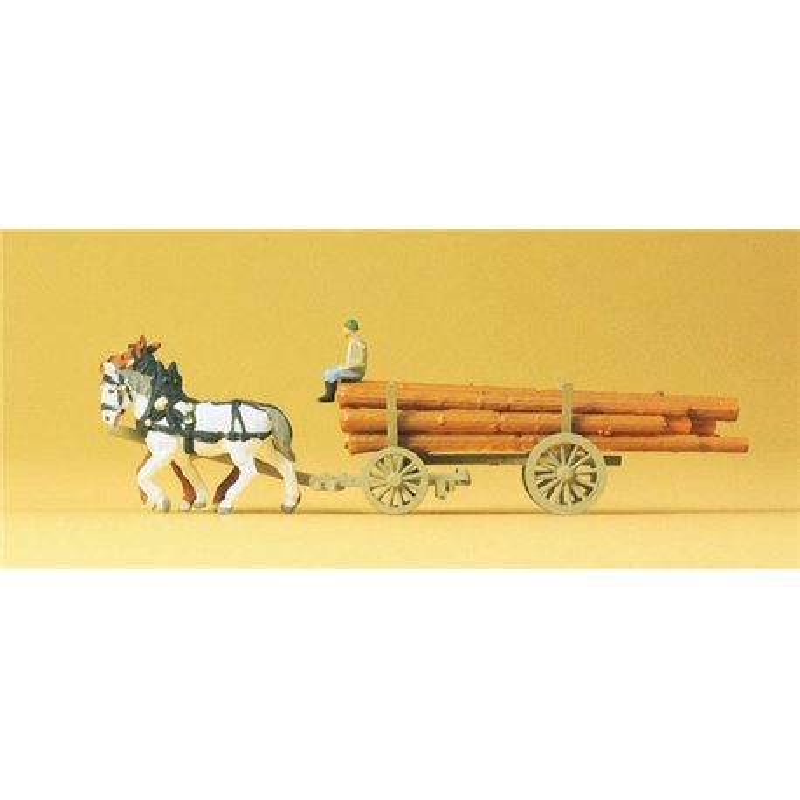 Preiser 79477 N 1/160 Log Wagon