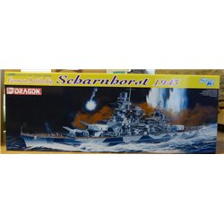 Dragon 1040 1/350 German Battleship Scharnhorst 1943 - Boîte Abîmée - Box Damaged
