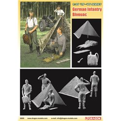 DRAGON 6695 1/35 German Wehrmacht Bivouac (3 Figures Set with Zeltbahn)