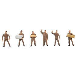 FALLER 150941 HO 1/87 Personnel de logistique UPS - UPS Logistics staff