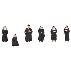 FALLER 150942 HO 1/87 Religieuses et prêtre - Nuns and parson
