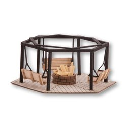 NOCH 14369 HO 1/87 Zonz de Barbecue - Barbecue Place with Swings