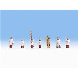 NOCH 15410 HO 1/87 Priest and Altar Servers