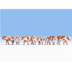 NOCH 15726 HO 1/87 Cows, brown-white