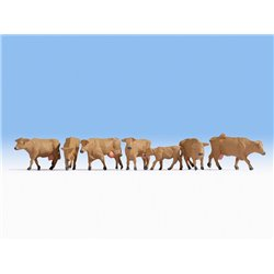 NOCH 15727 HO 1/87 Cows, brown