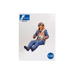 PJ PRODUCTION 481102 1/48 Pilote RAF assis (2 GM)