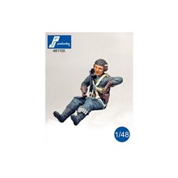 PJ PRODUCTION 481105 1/48 Pilote allemand assis (2GM)