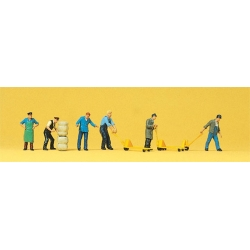 Preiser 10255 Figurines HO 1/87 Personnel d'Entrepôt - Delivery Men