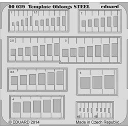 Eduard 00029 Template oblongs STEEL