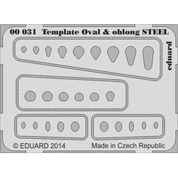 Eduard 00031 Template ovals & oblong STEEL