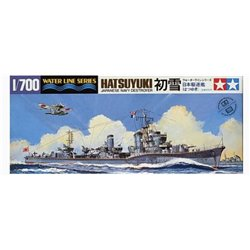 Tamiya 31404 1/700 Japanese Navy Destroyer Hatsuyuki Water Line Series