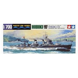 Tamiya 31407 1/700 Japanese Destroyer Hibiki Waterline Series