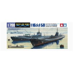 Tamiya 31453 1/700 Japanese Navy Submarine I-16 & I-58 Waterline Series