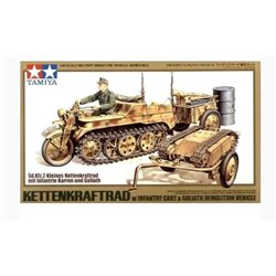 Tamiya 32502 1/48 Kettenkraftrad w/Cart & Goliath Vehicle