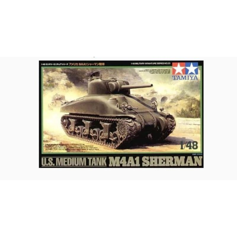 TAMIYA 32523 1/48 U S  Medium Tank M4A1 Sherman - Passion 132