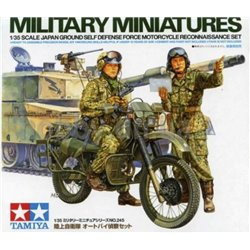 Tamiya 35245 1/35 Japan Ground Self Defense Force Motorcycle Reconnaissance Set